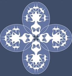 blue wild flowers vector image