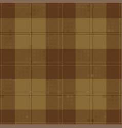 Brown and khaki tartan plaid scottish pattern vector