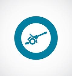 Cannon icon bold blue circle border vector