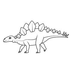 Coloring book stegosaurus dinosaur vector