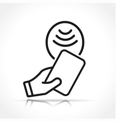 contactless payment icon isolated vector image