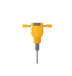 Drill or auger for mining industry or factory vector