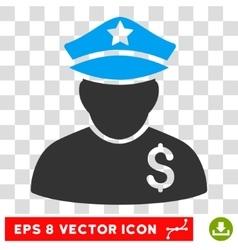 Financial Policeman Icon vector