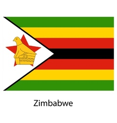 Flag of the country zimbabwe vector image