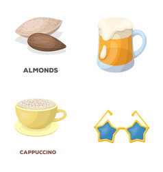 Food pub and other web icon in cartoon style vector