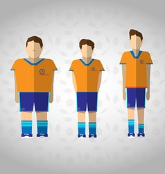 Football Players in Orange Sportswear vector image