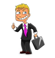 Funny businessman vector image