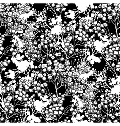 Graphic gypsophila pattern vector image