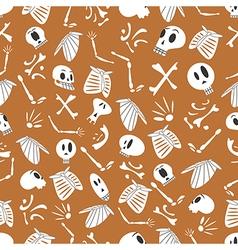 Halloween skeletons pattern 03 vector