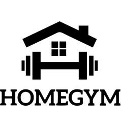 Home gym sports logo sign silhouette design vector