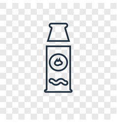 hot sauce concept linear icon isolated on vector image
