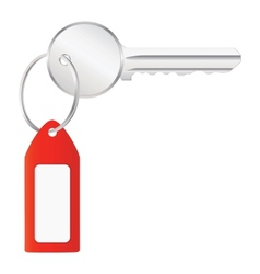 house key with label vector image