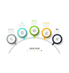 infographic design template with icon vector image