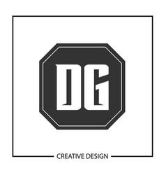 initial letter dg logo template design vector image