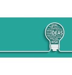 Innovate bulb concept vector image