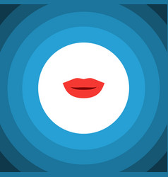 isolated kiss flat icon lipstick element vector image