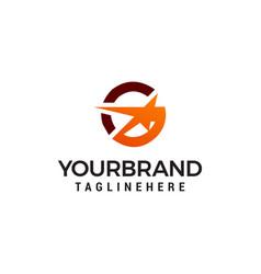 Letter g star logo design template vector