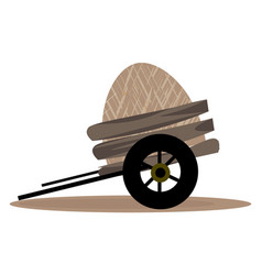 Loaded cart or color vector