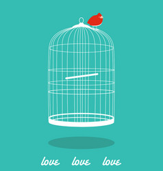 love cage bird vector image