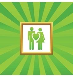 Love couple picture icon vector image