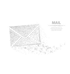 message abstract envelope icon isolated on vector image