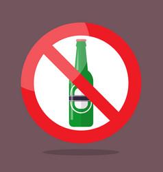 no bottle of beer symbol vector image vector image