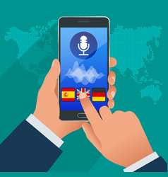 online voice translator and learning languages vector image