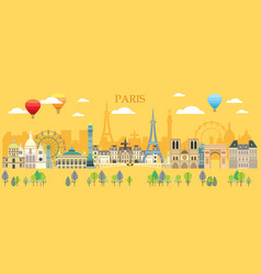 Paris skyline 14 vector