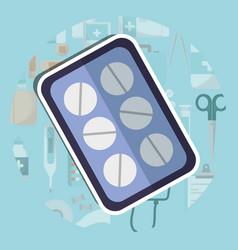 Pills medicine packaging medical supply healthcare vector