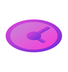 purple wall clock icon isometric style vector image