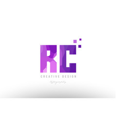 rc r c pink alphabet letter logo combination with vector image