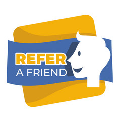 refer friend button isolated icon social media vector image