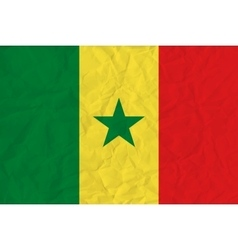 Senegal paper flag vector image