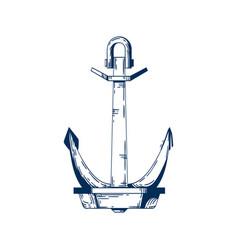 Ship armature anchor boat vector