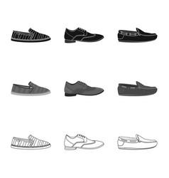 Shoe and footwear logo vector