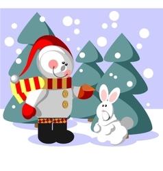 Snowman color 06 vector image