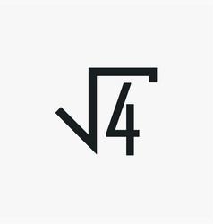 Square root icon simple school element symbol vector