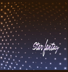 star fantasy dotted background vector image
