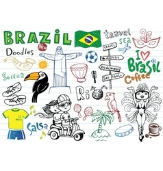 symbols brazil vector image