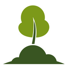 Tree isolated icon ecology and environment vector