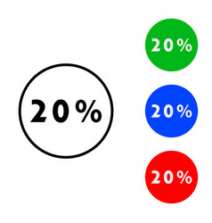 twenty percent icon vector image