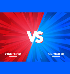 Versus screen vs fight background for battle vector