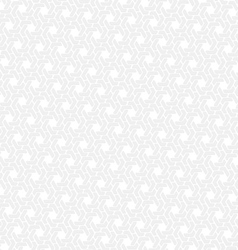 White hexagon seamless retro background vector image