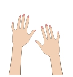 Women hands vector
