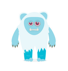 Yeti character flat isolated on white background vector
