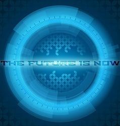 Abstract blue futuristic circle vector image