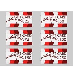 Gift card with a gift box vector image vector image