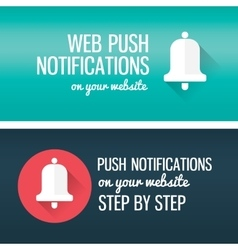 Notifications call icon with bell and title vector image