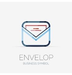 Open envelop company logo business concept vector image