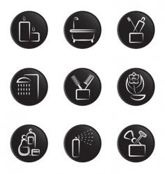 bathroom icons vector image vector image